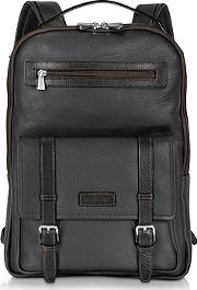 Chiarugi ,  Black And Brown Leather Backpack
