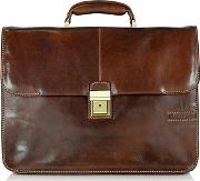 Chiarugi ,  Large Brown Leather Briefcase