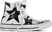 Converse Limited Edition ,  Chuck Taylor All Star High White Canvas Wblack Big Stars