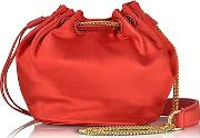 Diane Von Furstenberg ,  Love Power Satin Mini Bucket Bag