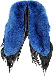Fearfur ,  Electric Butterfly Blue And Black Swedish Fur Stole