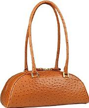 Fontanelli ,  Tobacco Stamped Italian Leather Bag