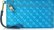 Gherardini ,  Gadget Softy Fabric And Leather Cosmetic Clutch