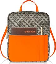 Gherardini ,  Julieta Millerighe Fabric And Eco Leather Backpack