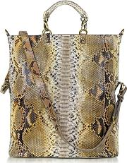 Ghibli ,  Large Python Leather Tote
