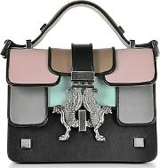 Giancarlo Petriglia ,  Black And Colorblock Mini P-bag Wruthenium Signature Closure