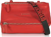 Givenchy ,  Pandora Mini Red Leather Crossbody Bag
