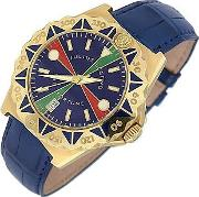 Julius Legend ,  Sea Fortune - 18k Gold And Leather Watch