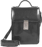 Lapa , L.a.p.a. - Black Leather Vertical Briefcase