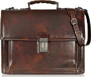 Lapa , L.a.p.a. - Cristoforo Colombo Collection Leather Briefcase