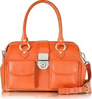 Lapa , L.a.p.a. - Front Pocket Calf Leather Doctor-style Handbag