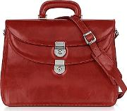 Lapa , L.a.p.a. - Women's Red Leather Briefcase