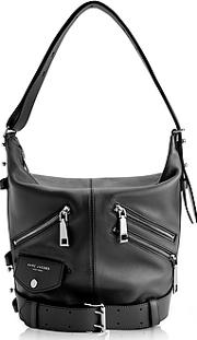 Marc Jacobs ,  Black Leather The Sling Motorcycle Shoulder Bag