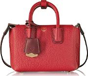 Mcm ,  Milla Ruby Leather Extra Small Tote