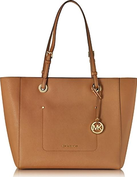 e04670378ce4 Buy Michael Kors Walsh Large Acorn Saffiano Leather Ew Top-zip Tote for  Women -