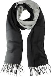 Mila Schon ,  Gradient Blackgray Wool And Cashmere Stole