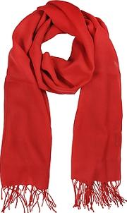 Mila Schon ,  Red Wool And Cashmere Stole