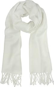 Mila Schon ,  White Wool And Cashmere Stole