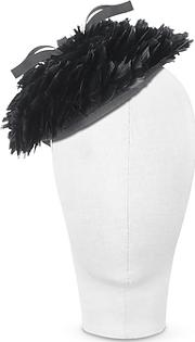 Nana , ' - Bonnie - Black 50's Feather Hat