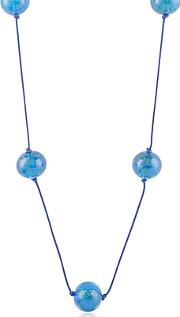 Naoto ,  Blue Glass Bead Long Necklace