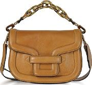 Pierre Hardy ,  Camel Grainy Leather Mini Alpha Ville Shoulder Bag