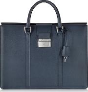 Pineider ,  City Chic Embossed Leather Briefcase