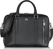 Pineider ,  City Chic Medium Double Handles Leather Tote