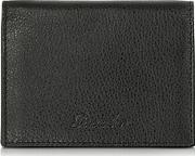 Pineider ,  Country Black Leather Business Card Holder