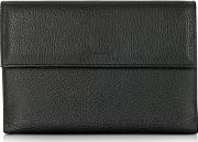 Pineider ,  Country Black Leather French Purse Wallet