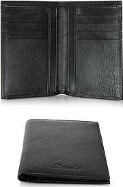Pineider ,  Country Black Leather Vertical Wallet