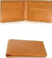 Pineider ,  Country Cognac Leather Billfold Wallet