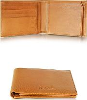 Pineider ,  Country Cognac Leather Billfold Wallet Wflap