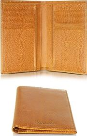Pineider ,  Country Cognac Leather Vertical Wallet
