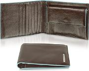 Piquadro ,  Blue Square-men's Billfold Leather Wallet