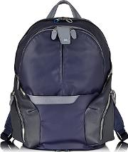 Piquadro ,  Nylon & Leather Computer Backpack