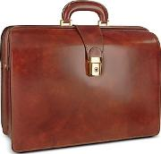 Pratesi ,  Men's Leather Doctor Bag Briefcase Winterior Lighting