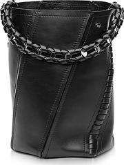Proenza Schouler ,  Black Leather Medium Hex Bucket Bag Wwhipstitch