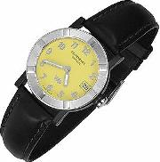 Raymond Weil ,  Parsifal W1 - Women's Yellow Stainless Steel & Leather Date Watch