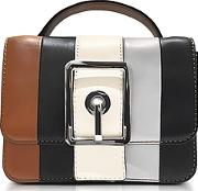 Rebecca Minkoff ,  Almond And Black Leather Small Hook Up Top Handle Crossbody Bag