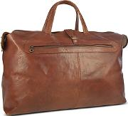 Robe Di Firenze ,  Large Brown Italian Leather Carry All Travel Bag