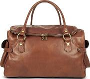 Robe Di Firenze ,  Large Brown Pebbled Italian Leather Carryall Bag