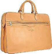 Robe Di Firenze ,  Women's Sand Double-gusset Soft Leather Briefcase