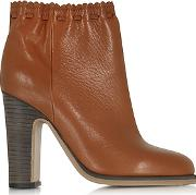 See By Chlo ,  Jane Rust Leather Ankle Boot