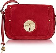 See By Chlo ,  Lois Red Velvet Suede Crossbody Bag
