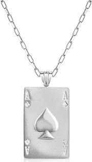 Sho London ,  Sterling Silver Ace Of Spades Necklace