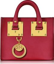 Sophie Hulme ,  Cherry Red Leather Albion Box Tote Bag