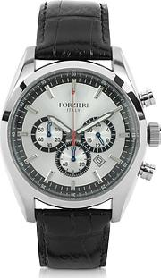 Forzieri ,  Spider - Men's Stainless Steel Silver Dial Chronograph Watch