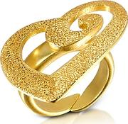 Stefano Patriarchi ,  Golden Silver Etched Cut Out Heart Ring