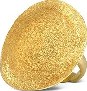 Stefano Patriarchi ,  Golden Silver Etched Round Ring