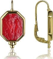 Tagliamonte ,  Classics Collection - Red 18k Gold Drop Earrings